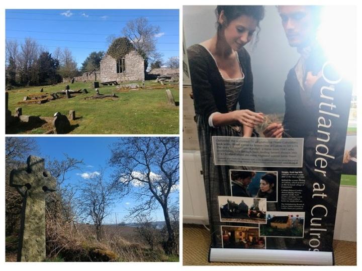 Ruínas de cemitério e igreja que foram usados como locação na série Outlander