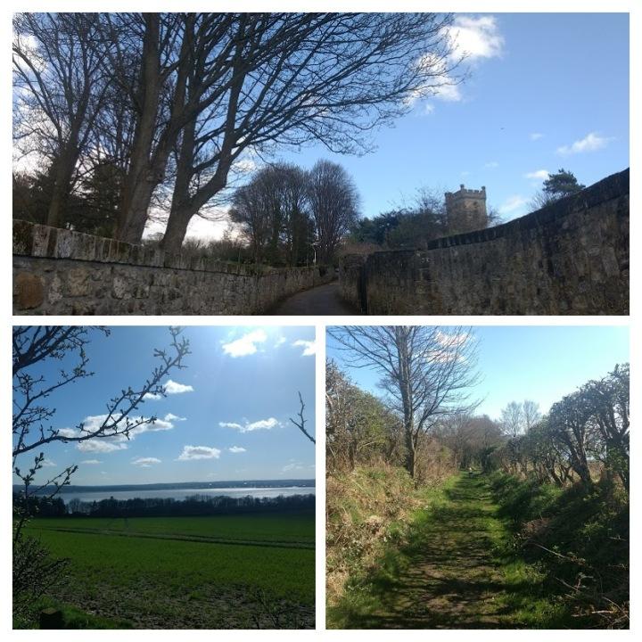 Caminho para a abadia do século 13, e trilhas belas e tranquilas para caminhar.